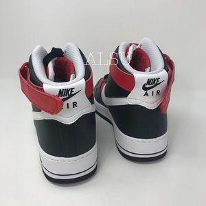 Nike Shoes - Nike Custom Air Force 1 HI Cody Black White Red M